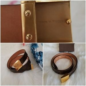 Louis Vuitton Accessories - Authentic LV Monogram Belt